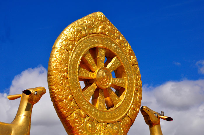 Cakra on the Golden Roof of Jokhang Temple