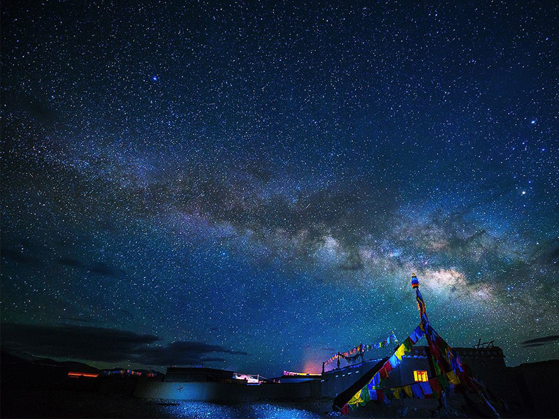 The night sky of Ngari