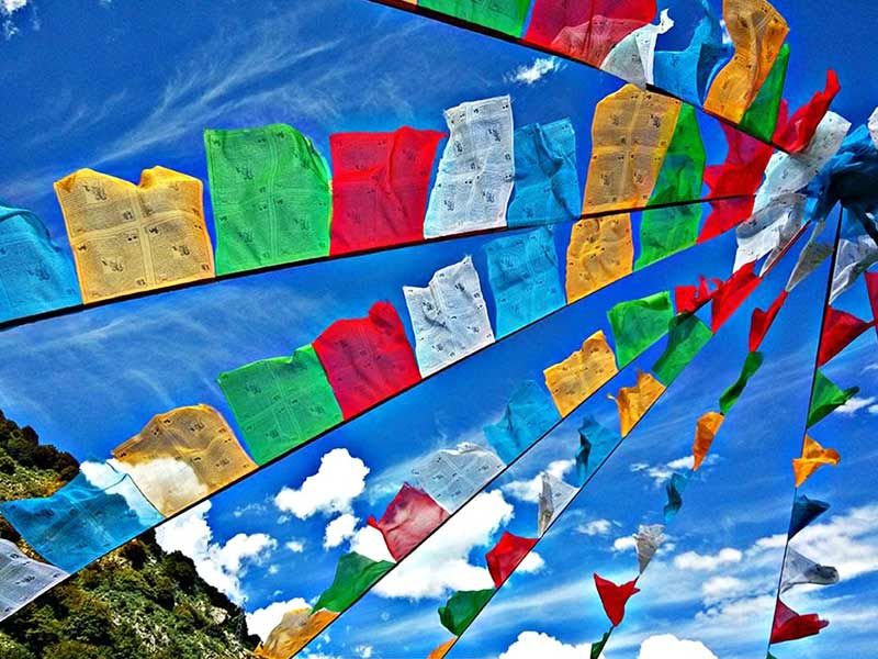 Prayer flags of Tibet are hoisted with some true intentions and beliefs.