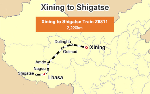 Xining to Shigatse Train: the scenic sky train connecting Xining with the gateway city of Mt.Everest