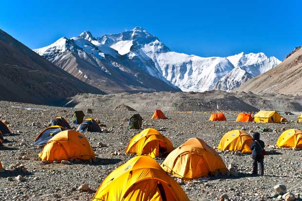 Scene of Everest Base Camp