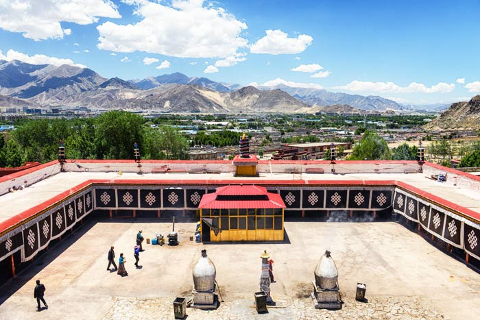 "Drepung Monastery was one of the ""three greet"" Gelug monasteries of Tibet."