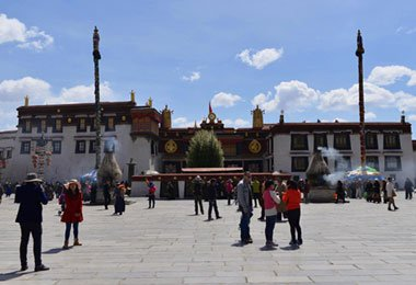 The large square before Jokhang Temple