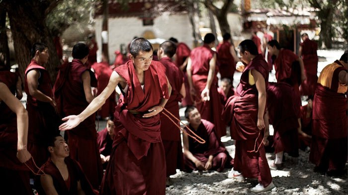 Monk Debate is a highlight of Sera Monastery