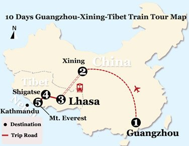 10 Days Xining and Tibet Natural Scenery Tour from Guangzhou