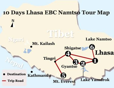 10 Days Lhasa to EBC and Namtso Lake Small Group Tour