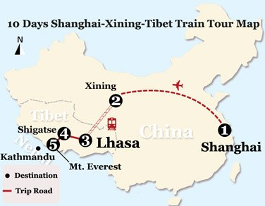 10 Days Xining and Tibet Natural Scenery Tour from Shanghai