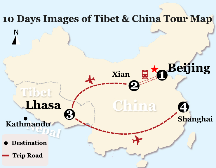 10 Days Images of Tibet and China Tour