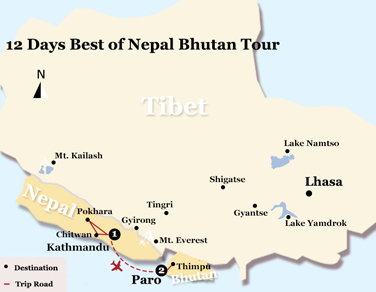 12 Days Best of Nepal Bhutan Tour