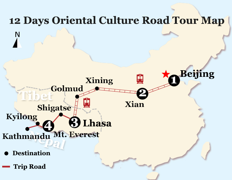 12 Days Oriental Culture Road Expedition Tour