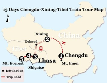 13 Days Mt. Everest Adventure Tour from Chengdu by Train