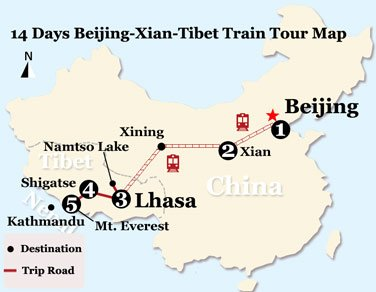 14 Days Mt. Everest Adventure Tour from Beijing by Train