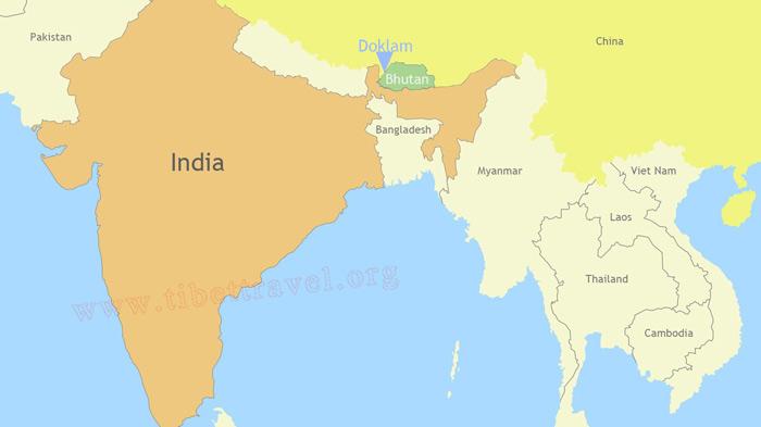 World Map Bhutan.Bhutan Border Map Bhutan Map With Surrounding Countries