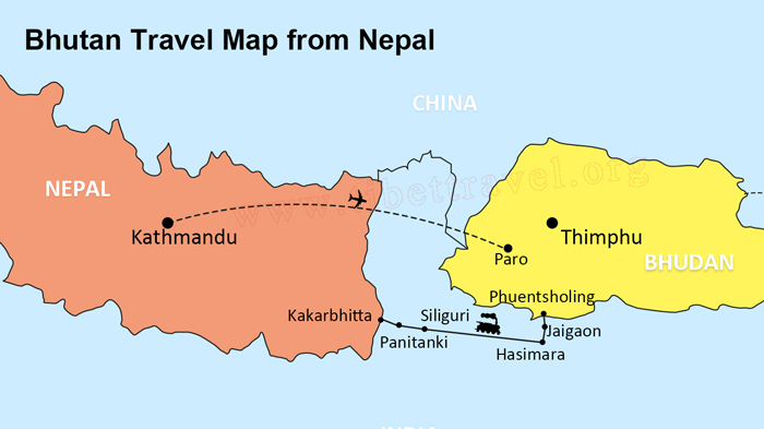 Nepal In The World Map.Ultimate Bhutan And Nepal Tourist Maps