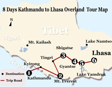8 Days Overland Adventure from Kathmandu to Lhasa