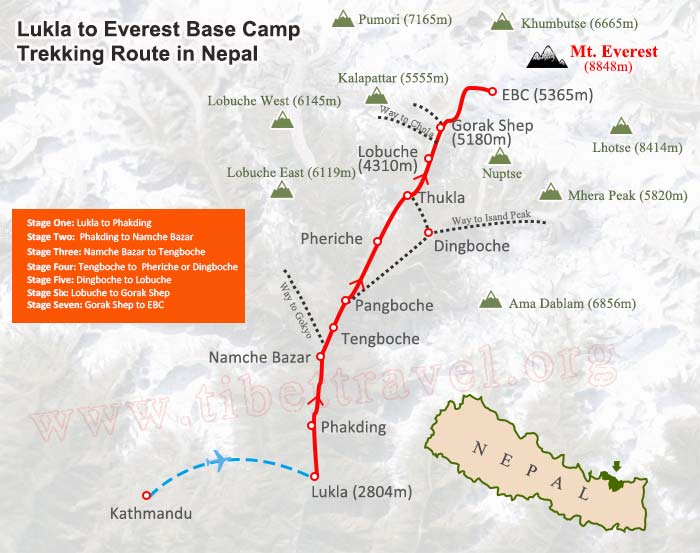 The Ultimate Mt Everest Tourist Route Maps