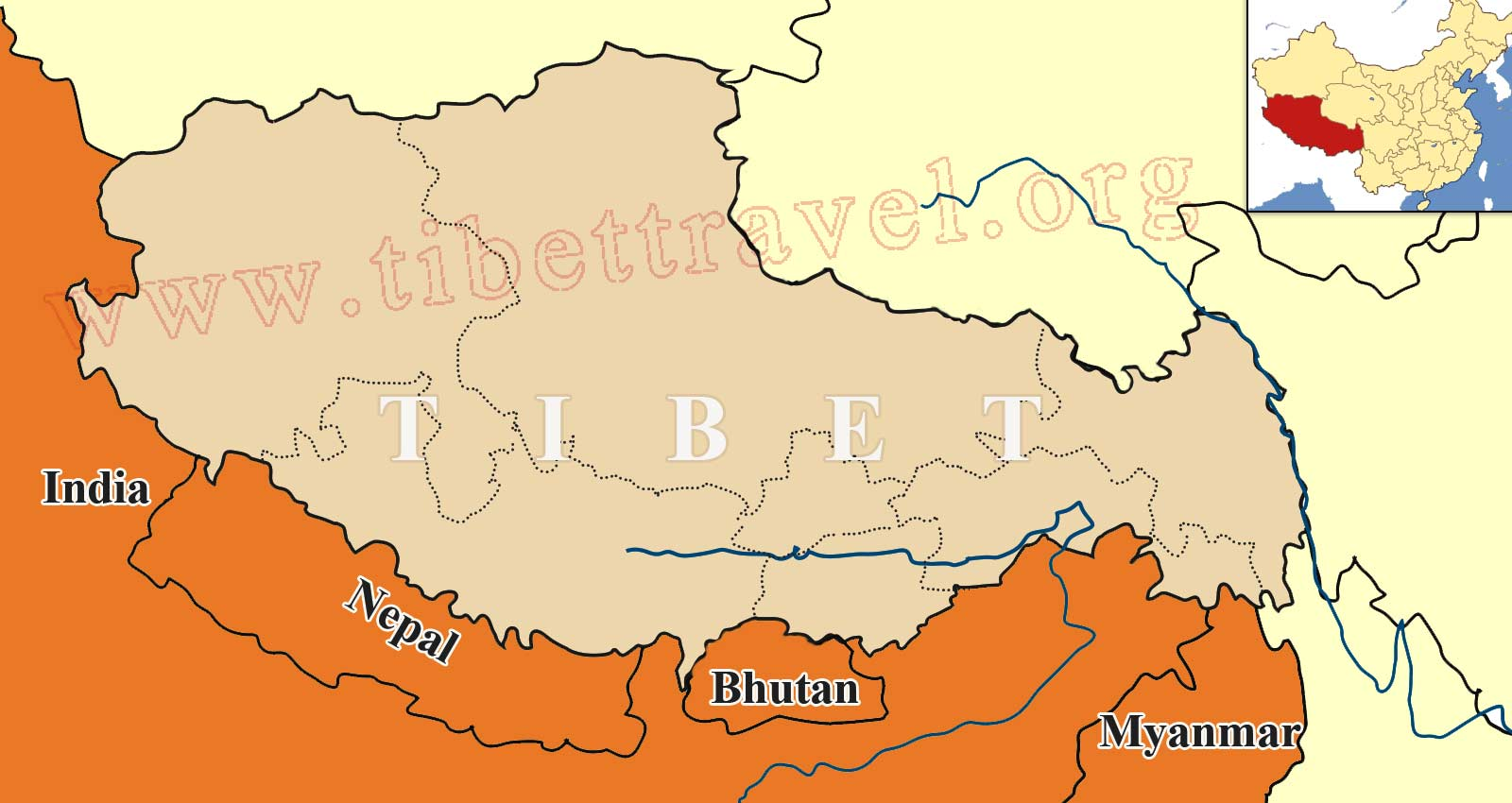Where Is Tibet Located On Map Of China Asia And World - Tibet in world map