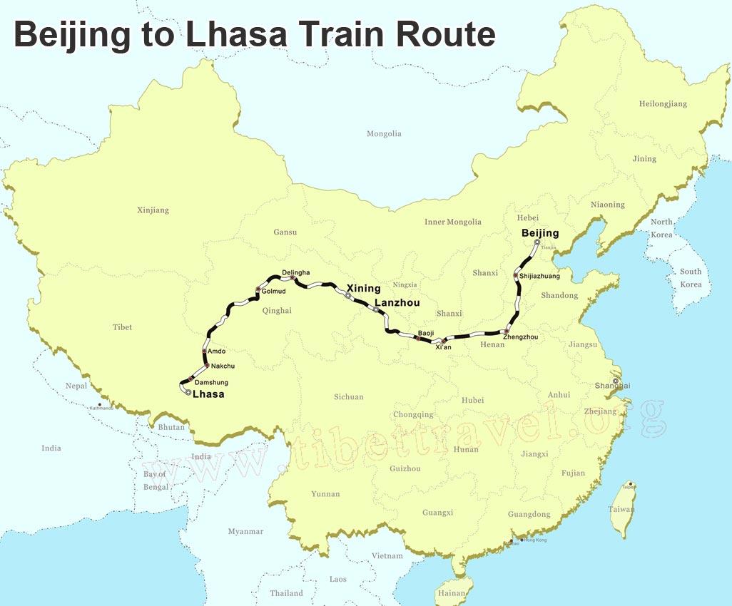 Tibet Railway Maps QinghaiTibet Railway Maps Tibet Railway Tour