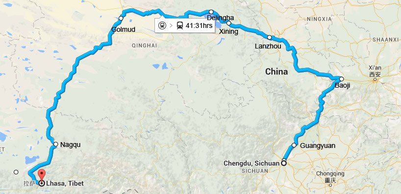 Lhasa China Map.Chengdu To Lhasa Train Train Travel Information And Ticket Service