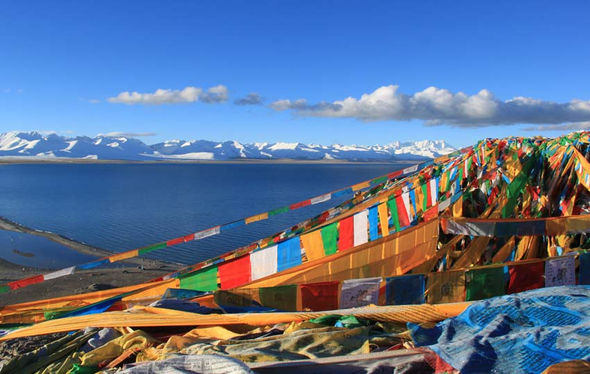 Amazing View of Namtso Lake from Tashi Dor Island