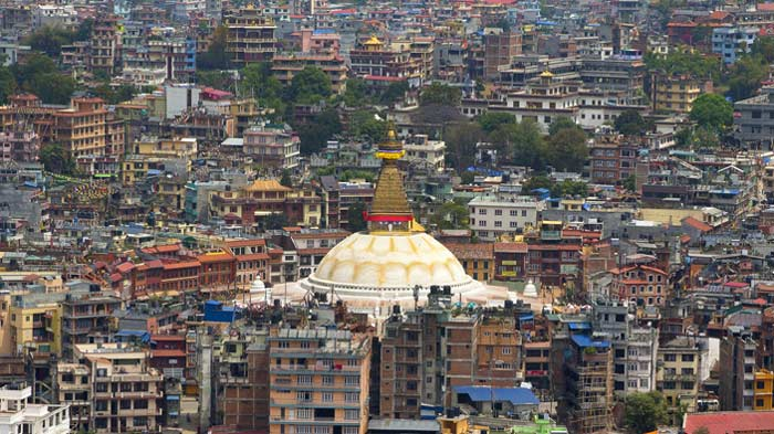 Boudhanath was barely affected by the earthquake.