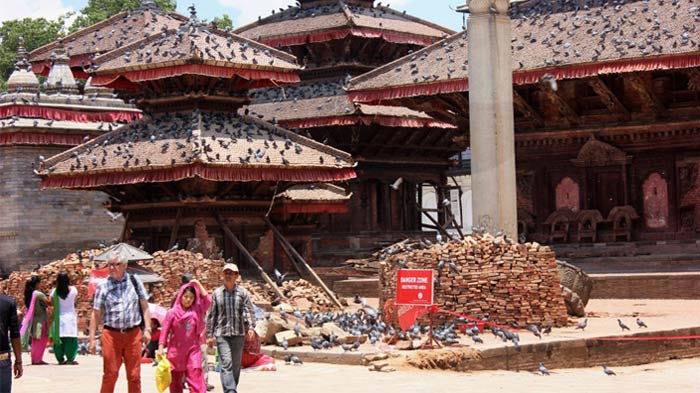 Durbar Square in Kathmandu suffered tremendous loss during the earthquake.