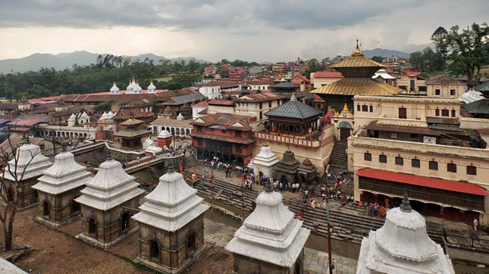 Pashupatinath Temple remained intact and survived from 7.9-magnitude earthquake