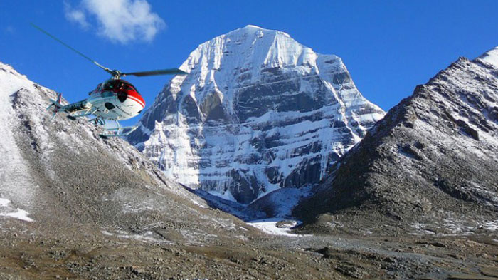 Take a helicopter to Mt.Kailash
