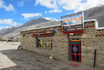 Facade of Rongbuk Monastery Guesthouse
