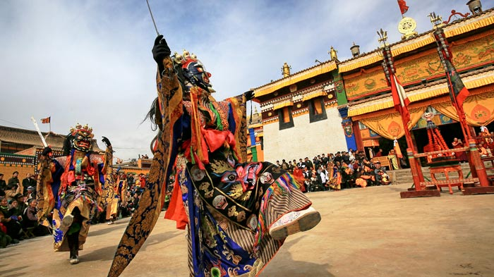 Traditional Cham Dance in Tibet