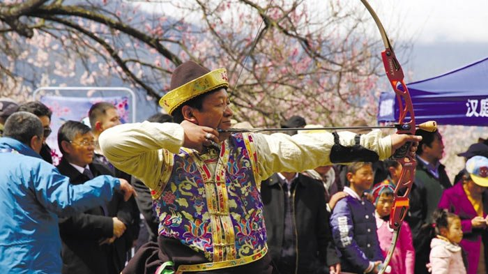 Nyingchi whistling archery competition