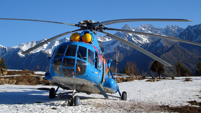 Take Helicopter to Mt.Kailash