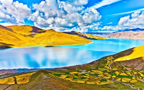 Lhasa to Yamdrok Lake Distance: distance from Lhasa to Yamdrok Lake by overland and biking