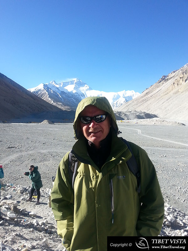 Mr.Adam Jankowski at the foot of Mt.Everest