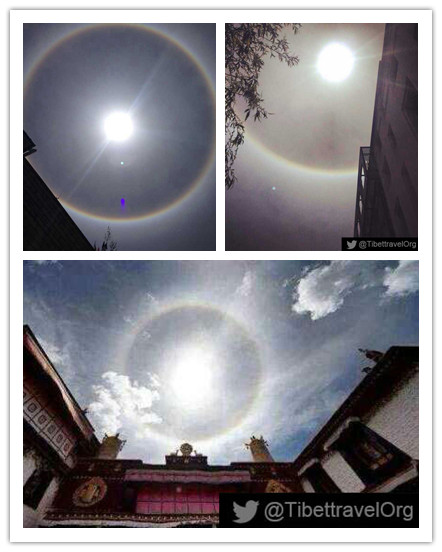 Solar halo observed in Tibet
