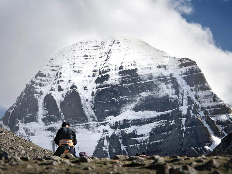 Devoute pilgrim in Kailash Kora