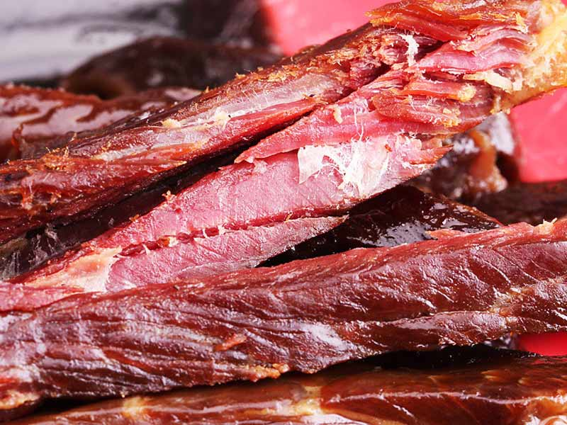 Dried beef and mutton strips