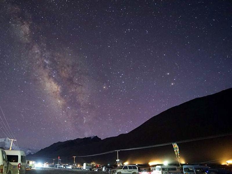 Starry sky over Everest Base Camp