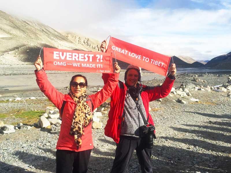 Enjoying the Flag Clouds on Mount Everest