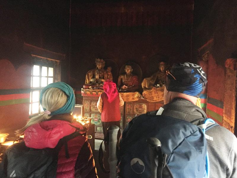Visiting monasteries in Kailash Kora