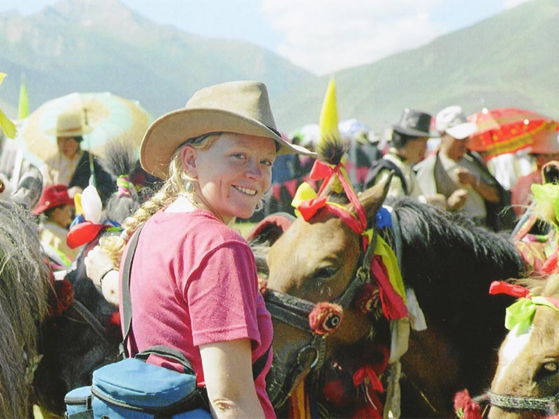 Participating in Litang Horse Racing Festival