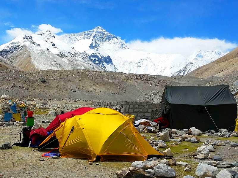Camping at EBC