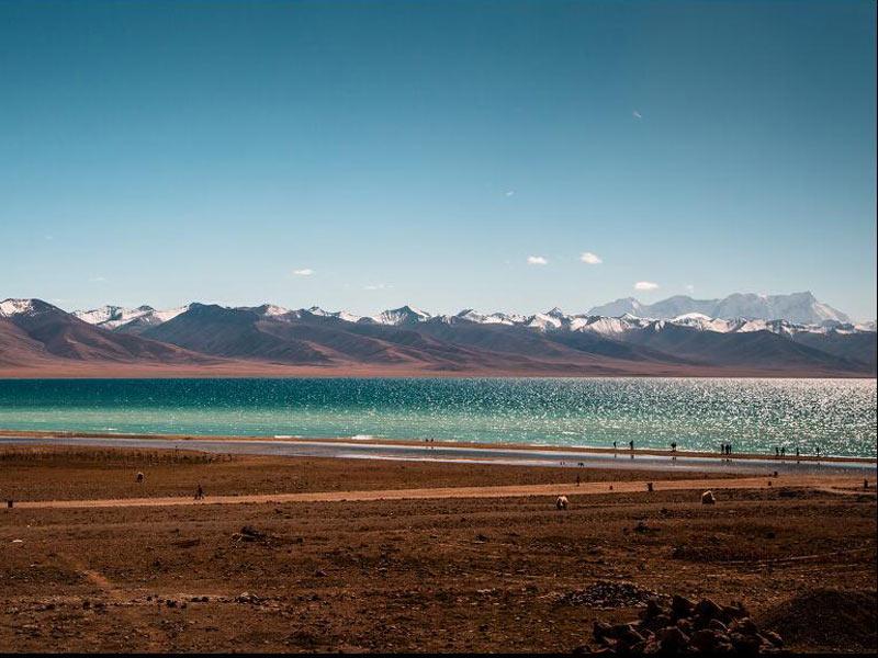 stunning view of namtso lake