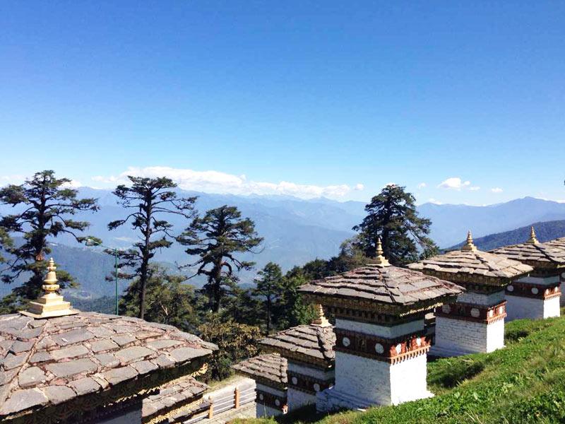 108 stupas in Bhudan