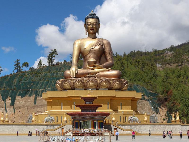The Buddha Dordenma Statue in Bhudan