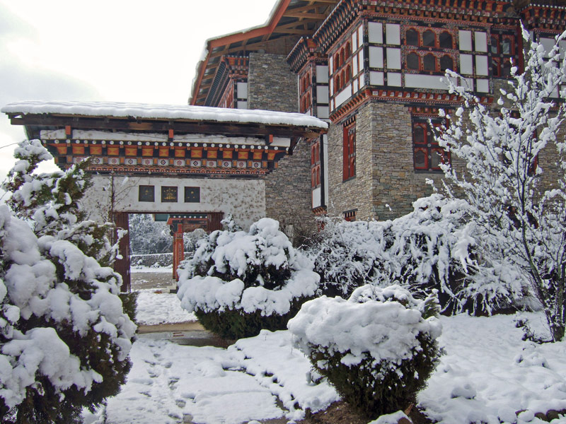Bhutan National Library in Winter