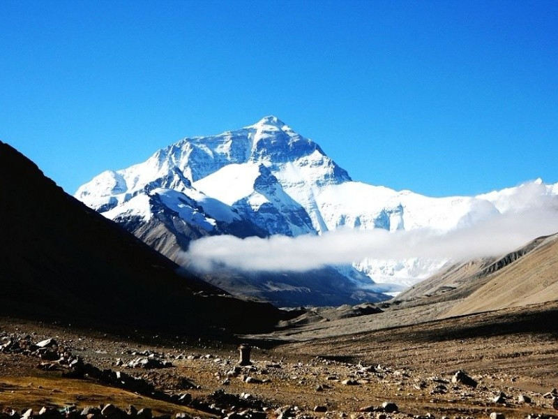 Mt. Everest in Tibet side