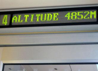 Altitude Display on Tibet Train