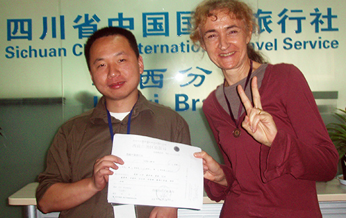 Our customer Ms.Lesley from UK got her Travel Permit to Tibet in early 2012