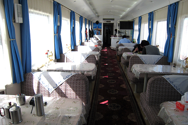 Resturant Car on Golmud to Lhasa Train
